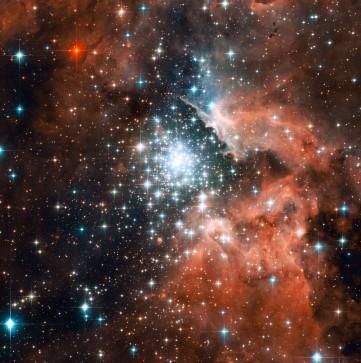 Звездное скопление, реальные фото космоса